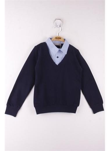 Toontoy Kids Toontoy Erkek Çocuk Okul Gömlek Yaka Sweatshirt - Lacivert - 6 Yaş - 116Cm Boy Lacivert